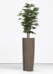 Kunst bamboe hoog met plantenbak rond 90cm