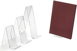 Boekenstandaard transparant 5 x 11 cm