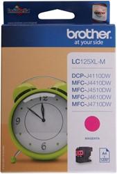 Brother inkjet Brother LC125XLC Inktcartridge magenta