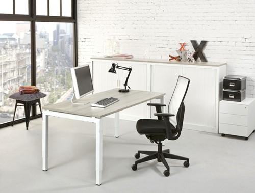 Kantoor bureau proline quad wit robson eiken bij pro office