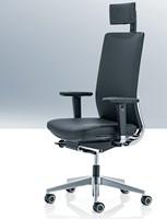 Bureaustoel Leer Wit.Leren Bureaustoel Kohl Anteo Alu Wit 202 Bij Pro Office