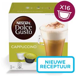 Nescafé Dolce Gusto cups, Cappuccino, pak van 16 capsules