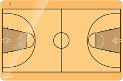 Basketbal coachbord 60x90cm