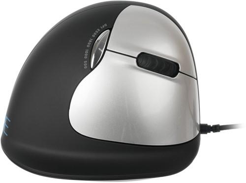Ergonomische muis anti-RSI bedraad zwart