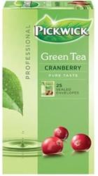 Pickwick thee, groene thee Cranberry, pak van 25 stuks