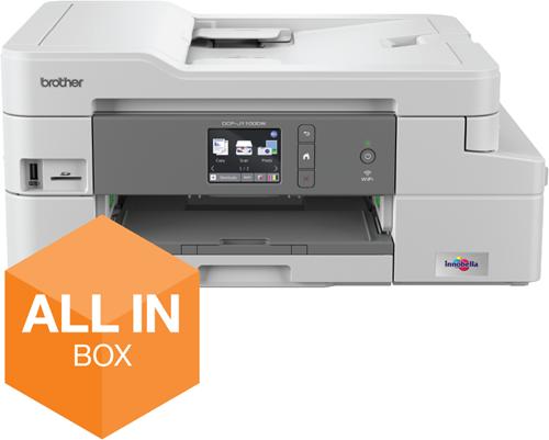 Inkjetprinter Brother DCP-J1100DW A4 all in one  + ultra high capacity inkt en 3 jaar garantie