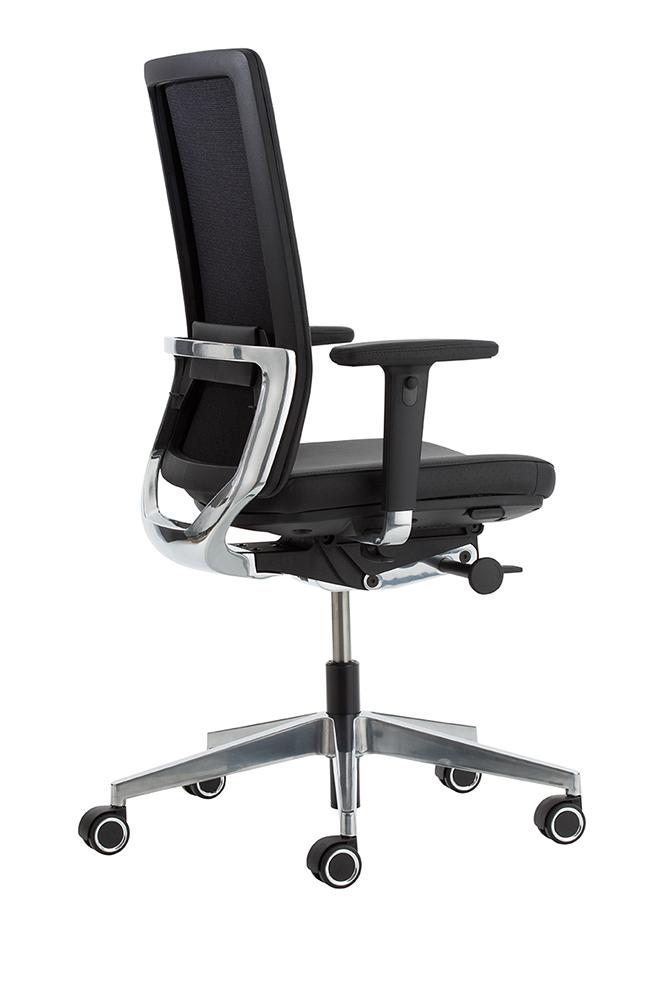 Luxe Leren Bureaustoel.Leren Bureaustoel Kohl Anteo Alu Antraciet 218 Bij Pro Office