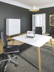 Vierkant directiebureau Organik 150x150cm