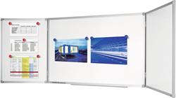 Drieluik economy plus whiteboard 90x240 cm