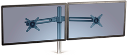 Dubbele monitorarm met een draagkracht van 7kg