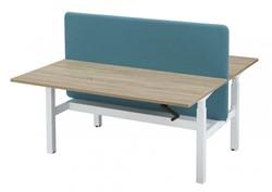 Duo bench werkplek 2x 160x80cm in hoogte verstelbaar met slinger