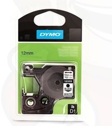 Dymo D1 tape 16959 12mm zwart op wit permanent