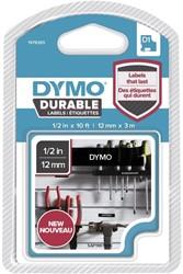 Dymo D1 duurzame tape 1978365 12mm wit op zwart