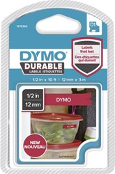 Dymo D1 duurzame tape 1978366 12mm wit op rood
