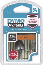 Dymo D1 duurzame tape 1978367 12mm zwart op oranje