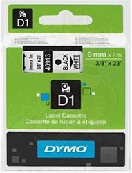 Dymo D1 tape 40913 9mm zwart op wit