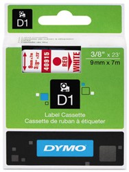 Dymo D1 tape 40915 9mm Rood op wit