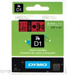 Dymo D1 tape 40917 9mm zwart op rood