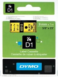 Dymo D1 tape 40918 9mm zwart op geel
