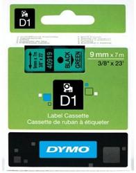 Dymo D1 tape 40919 9mm zwart op groen