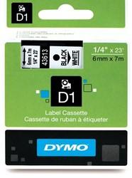 Dymo D1 tape 43613 6mm zwart op wit