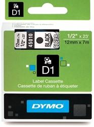 Dymo D1 tape 45010 12mm zwart op transparant