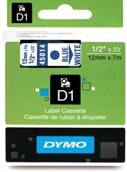Dymo D1 tape 45014 12mm blauw op wit