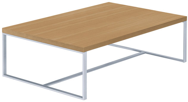 Salontafel voor kantoor of entree  met aluminium frame 110x70cm