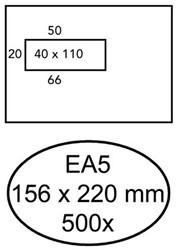 Envelop BioTop EA5 156x220 venster links met plakstrip ds/500