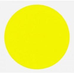 Ronde etiketten op rol fluor geel 25mm