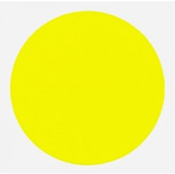 Ronde etiketten op rol fluor geel 35mm