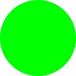 Ronde etiketten op rol fluor groen 35mm
