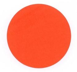 Ronde etiketten op rol fluor rood 35mm