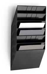 Wandfolderhouder A4 6 vak zwart