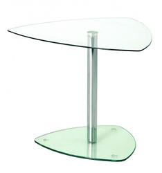 Glazen bijzettafel voor kantoor 45x50x50cm