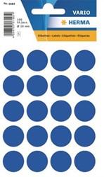 Etiket Herma 19mm rond donkerblauw/pk100