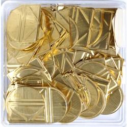 Hoekclips Alco goudkleur 100st in doos
