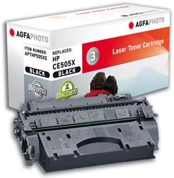 HP 05X compatible toner AgfaPhoto CE505X zwart high capacity duopack