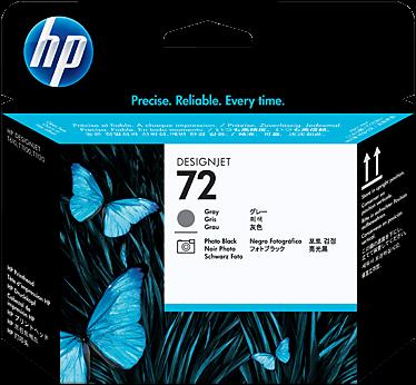 HP 72 printkop C9380A 72  grijs + foto zwart