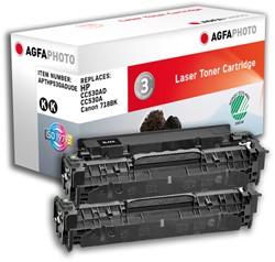 APTHP530ADUOE AP HP CLJ2025 CARTR (2) KK CC530AD/304A 2x3500pages