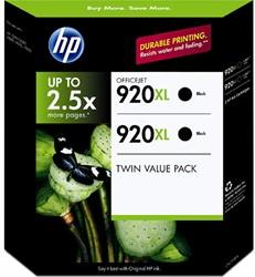 2 HP 920XL cartridges D8J47AE zwart hoge capciteit inhoud 49 ml