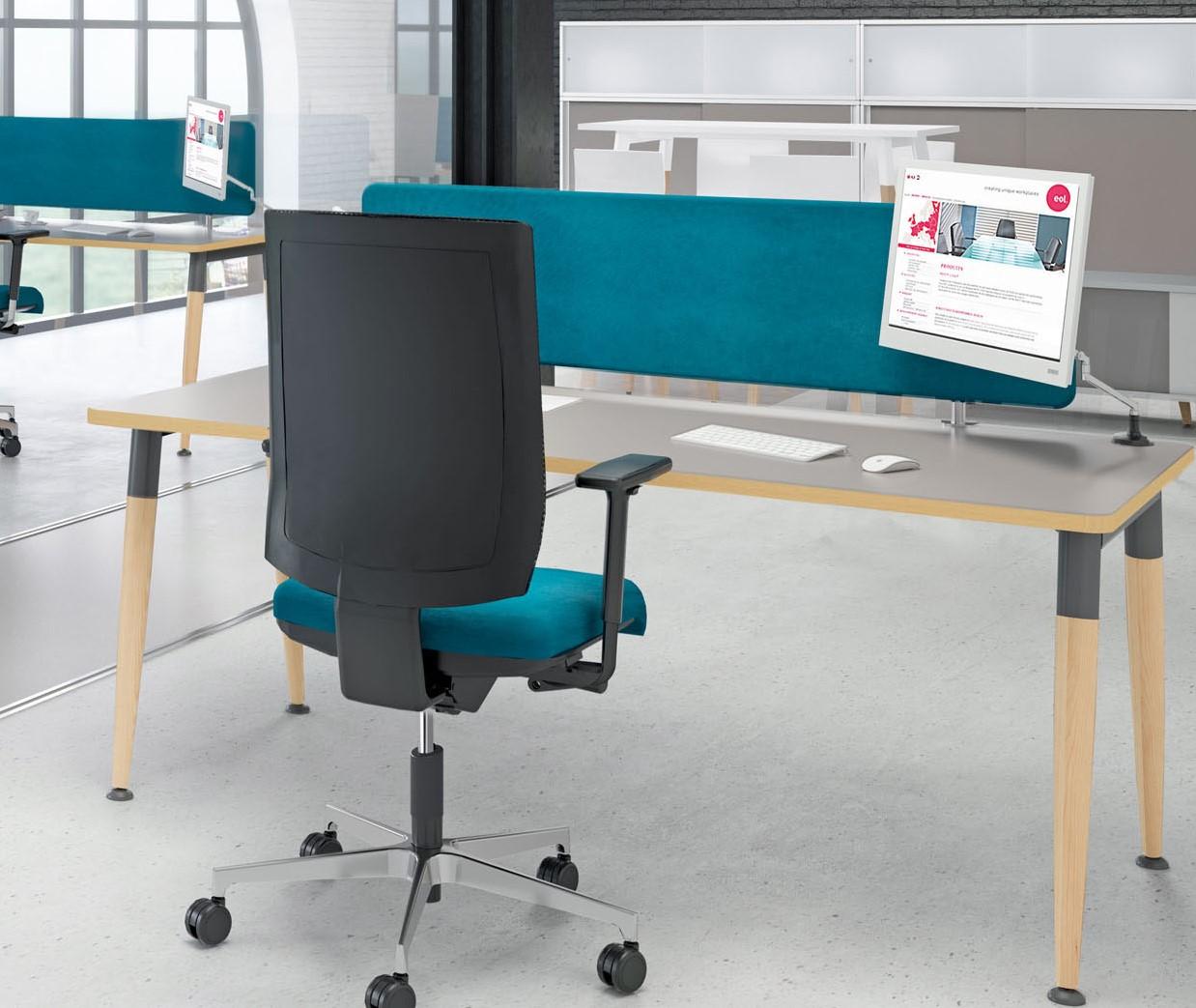 Massief Houten Bureau.Design Bureau 4wood Met Massief Houten Poten Wit Licht Eiken Bij