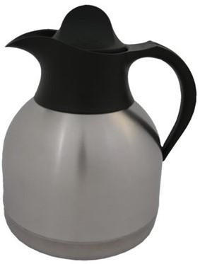 Thermoskan koffiekan 1liter roestvrijstaal zwarte do