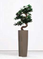 Kunst bonsai hoog met plantenbak rond 90cm