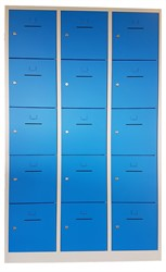 Lockerkast met 15 afsluitbare lockers