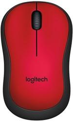 Logitech M220 draadloze silent muis rood
