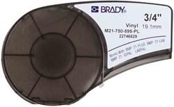 Vinyltape Brady 19mm wit op paars