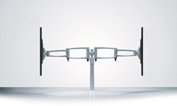Monitorarm met zwenkarm voor 2 monitoren IB200250
