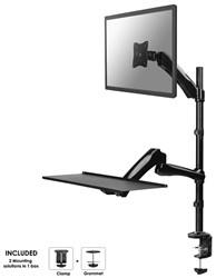 Monitor arm met een platform