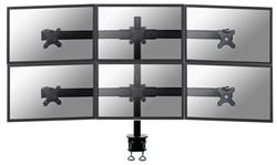 Monitor arm met 6 schermen